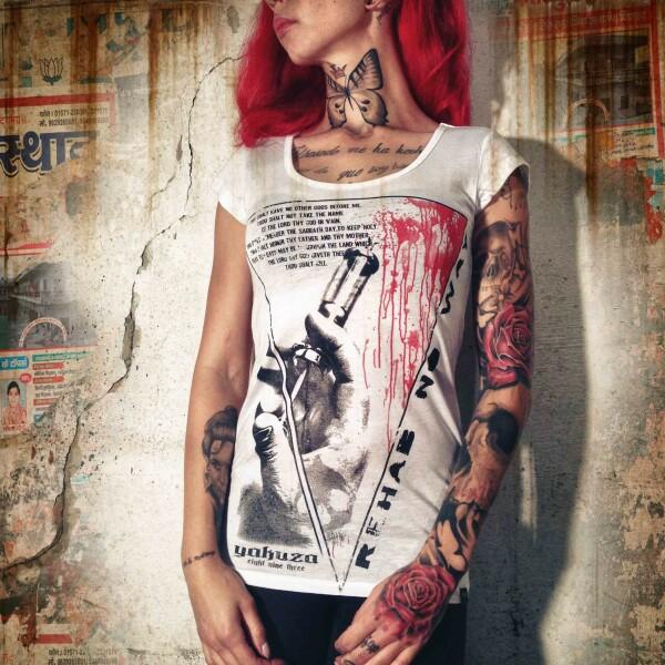 25f0b70f0499 Yakuza Dámské tričko YK GSB519 white - Original Store